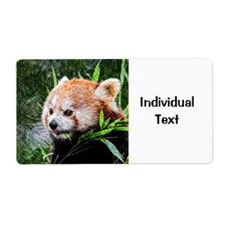 sketchy red panda shipping label