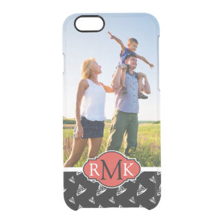 Sketchy Sailboat Pattern| Your Photo & Monogram Clear iPhone 6/6S Case