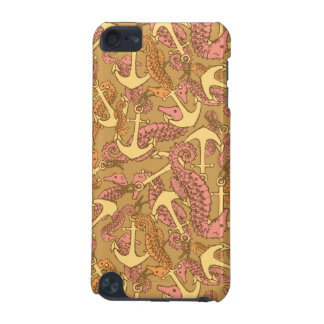 Sketchy Seahorse And Anchor Pattern iPod Touch 5G Covers