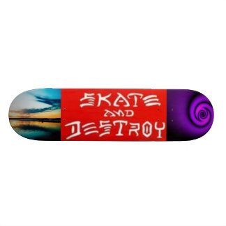Skete and destroy/ heaven and hell custom skate board