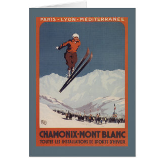 Ski Jump - PLM Olympic Promo Poster Greeting Card