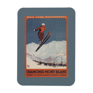 Ski Jump - PLM Olympic Promo Poster Rectangular Photo Magnet