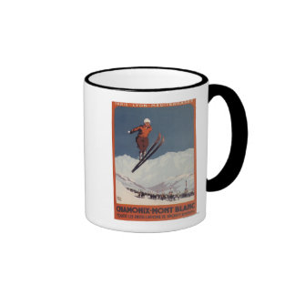 Ski Jump - PLM Olympic Promo Poster Ringer Mug