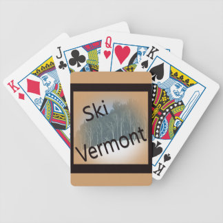 Ski Vermont black Bicycle Playing Cards
