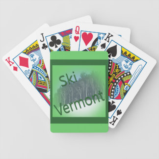 Ski Vermont green Bicycle Playing Cards