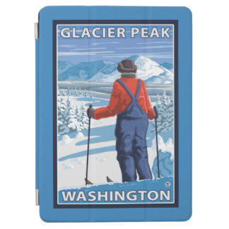 Skier Admiring - Glacier Peak, Washington iPad Air Cover