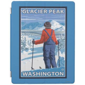 Skier Admiring - Glacier Peak, Washington iPad Cover