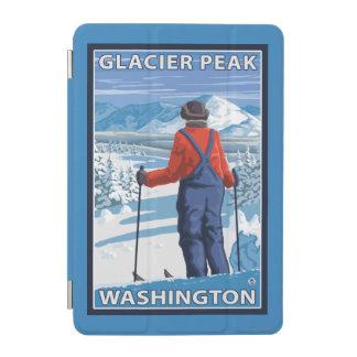 Skier Admiring - Glacier Peak, Washington iPad Mini Cover