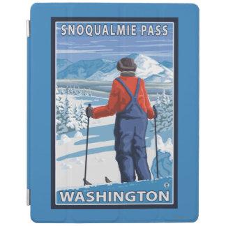 Skier Admiring - Snoqualmie Pass, Washington iPad Cover