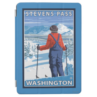 Skier Admiring - Stevens Pass, Washington iPad Air Cover