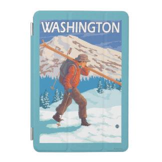 Skier Carrying Snow Skis - Washington iPad Mini Cover