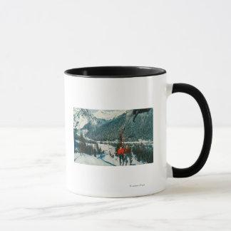 Skiers on the ChairliftSnoqualmie Pass, WA Mug