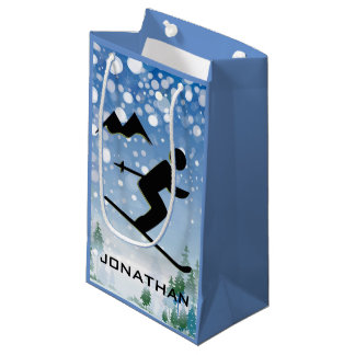 Skiing Design Gift Bag