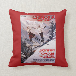 Skiing Promotional Poster Cushions