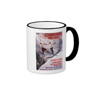 Skiing Promotional Poster Ringer Mug