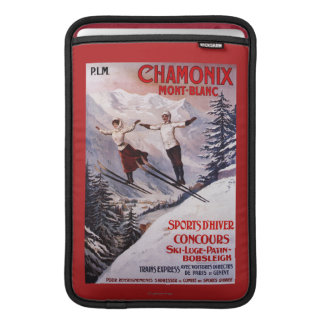 Skiing Promotional Poster Sleeves For MacBook Air