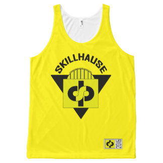 SKILLHAUSE - 04 NEW WAVE - BLACK LETTER All-Over PRINT SINGLET