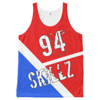 SKILLHAUSE-94 CLIPPER SKILLZ TANK(NO COLOR CHOICE) All-Over PRINT SINGLET