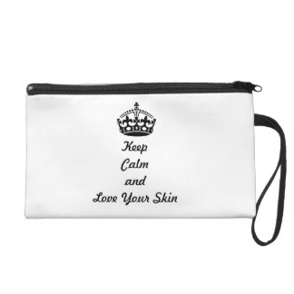 """Skincare Lovers """"Keep Calm and Love Your Skin"""" Wristlet"""