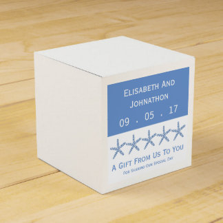 Skinny Blue Sea Star Wedding Party Favour Boxes