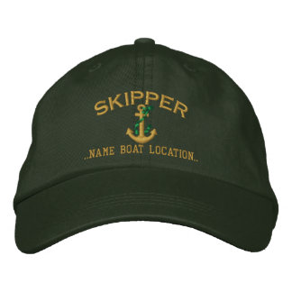 Skipper Rope Anchor Yours to Personalize Embroidered Hats