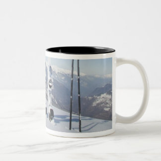 Skis and Ski Poles Two-Tone Coffee Mug