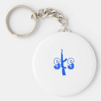 SKS Assault Rifle Logo Blue.png Key Ring