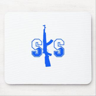 SKS Assault Rifle Logo Blue.png Mouse Pad