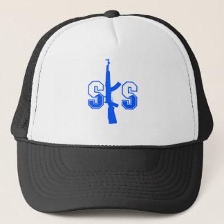 SKS Assault Rifle Logo Blue.png Trucker Hat