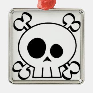 Skull and Bones Demento Christmas Ornament