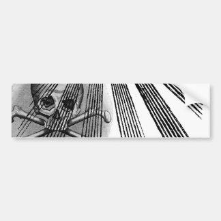 Skull and Bones Secret Society Illuminati Bumper Sticker