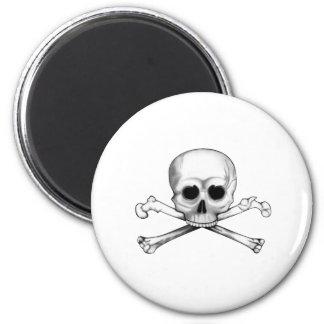 Skull and Crossbones 6 Cm Round Magnet
