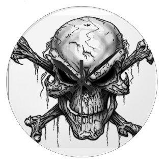 Skull and crossbones clock