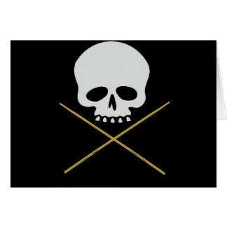Skull and Drumstick Crossbones Card
