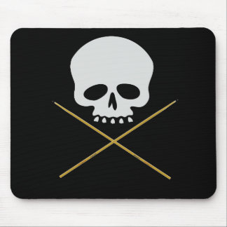 Skull and Drumstick Crossbones Mouse Pad