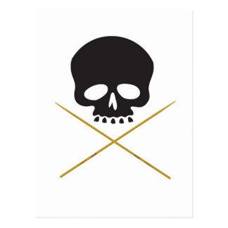 Skull and Drumstick Crossbones Postcard
