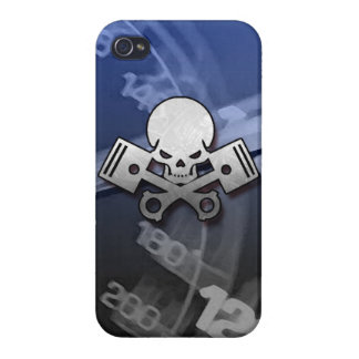 Skull and piston car cool motorcycle muscle car en iPhone 4 case