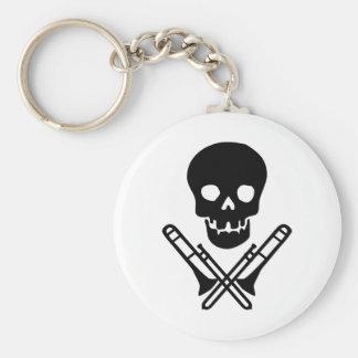 skull and trombones key ring