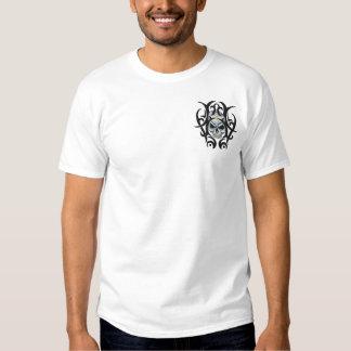 Skull Art Embroidered T-Shirt