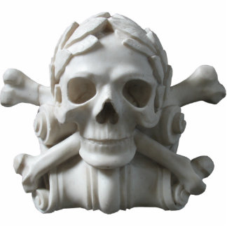 Skull & Bones Pirate Skeleton Sculpture Standing Photo Sculpture