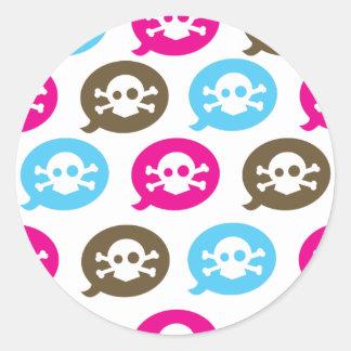 Skull Bubbles Round Sticker