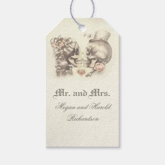 Skull Couple Vintage Wedding Gift Tags