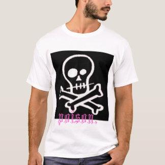 """skull/crossbone """"poison"""" T-Shirt"""