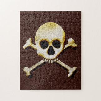 Skull  Crossbones Fun Halloween Party Activities Jigsaw Puzzle