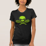 Skull & Crossed Racquets Tennis Ladies T-shirt