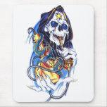 skull death bong mouse pad
