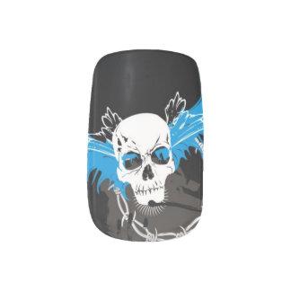 Skull Design Minx Nail Art