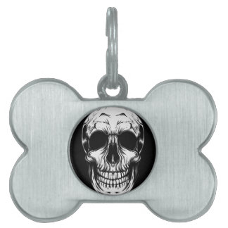 SKULL DOG TAG by THE ART DUMP Pet ID Tags