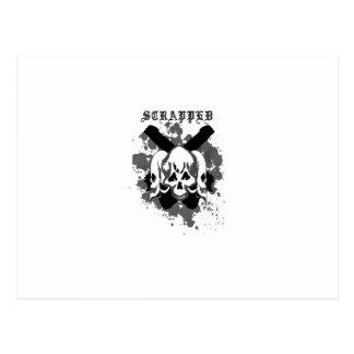 skull edition triplets postcard