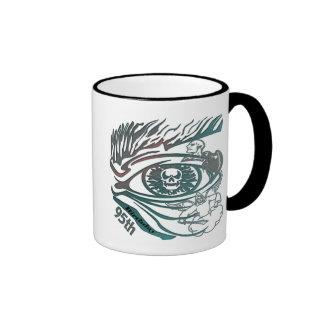 Skull Eye 95th Birthday Gifts Ringer Mug